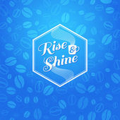 Rise and shine poster. — Stock Vector
