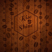 Rise and shine vintage background. — Stock Vector