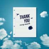 Thank you card for different occasions. — Stock Vector