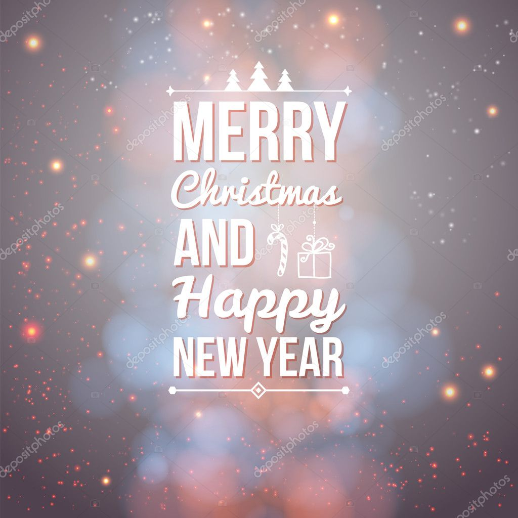 Merry christmas and happy new year card stock vector 32176937