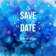 Save the date for personal holiday. — Imagens vectoriais em stock