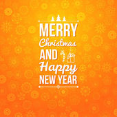 Merry Christmas and Happy new year card. — Wektor stockowy