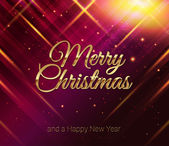 Merry Christmas and Happy New Year card. — Stock Vector
