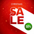 Christmas sale background. — Imagen vectorial
