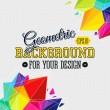 Geometric background with bright triangle elements and place for — Stock Vector