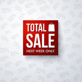 Total sale design template. Vector illustration. — Cтоковый вектор