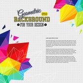 Fondo geométrico con elementos del triángulo luminoso y lugar para — Vector de stock