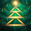 Christmas tree made of lights. Vector illustration. — Stock Vector