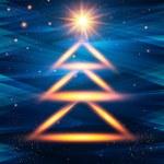 Christmas tree made of lights. Vector illustration. — Stock Vector