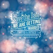 Save the date for personal holiday. Wedding invitation. Vector i — Stock Vector