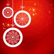 Stylized Christmas balls with snowflakes. Vector illustration. — Image vectorielle