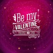 Lovely Valentine card with lettering style. Vector illustration. — Stock Vector