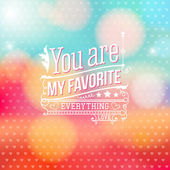 Lovely Valentine card with lettering style. Vector illustration. — 图库矢量图片
