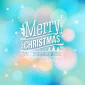 Christmas greeting card. Merry Christmas lettering in vintage st — Stock Vector