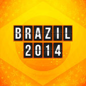 Brazil 2014 football poster. — Stock Vector