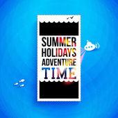 Lichte zomer vakantie poster. — Stockvector
