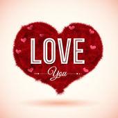 Fluffy icon for romantic design. — Stock Vector