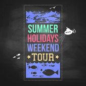 Summer holidays advertisement — Stock Vector