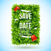 Save date for personal holiday. — Stock Vector