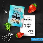 Summer holidays poster — Stock Vector