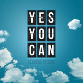 Yes, You can. Motivational poster — Stock Vector