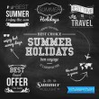 Typographic labels for summer holidays — Stock Vector #47716365