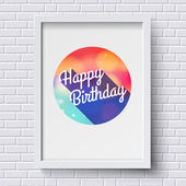 Abstract Happy Birthday card — Stock Vector