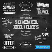 Typographic labels for summer holidays — Stock Vector