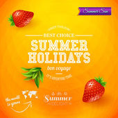Bright poster for summer holidays — Stock Vector