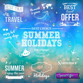 Labels for summer holidays — Stock Vector