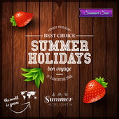 Poster for summer holidays — Stock Vector
