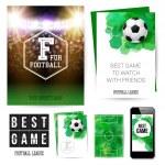 Identity design for football club — Stock Vector #48635433