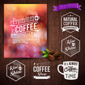Coffee advertising poster — Stock Vector