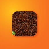 Coffee beans icon — Stockvektor