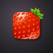Strawberry icon — Stock Vector