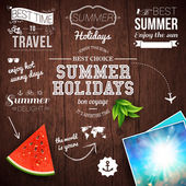 Design poster for summer holidays — Stock Vector