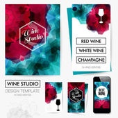 Identity design for Wine studio — Stock Vector