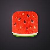 Slice of watermelon — Stockvektor