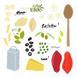 Royalty-Free Stock Vector Image: Italian cuisine ingredients