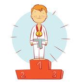 Karate champion — Stock Vector