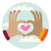 Heart Hands Gesture — Stock Photo