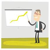 Gráfico verde — Vetor de Stock