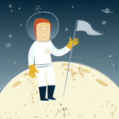 Man On The Moon — Stock Vector