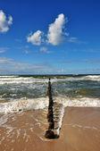 Beach on the Baltic Sea in Mielno — Stock Photo