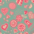 Royalty-Free Stock Векторное изображение: Heart seamless pattern