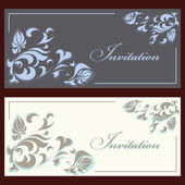 Collection of invitation cards — Stock Vector
