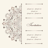 Invitation vintage card — Vector de stock