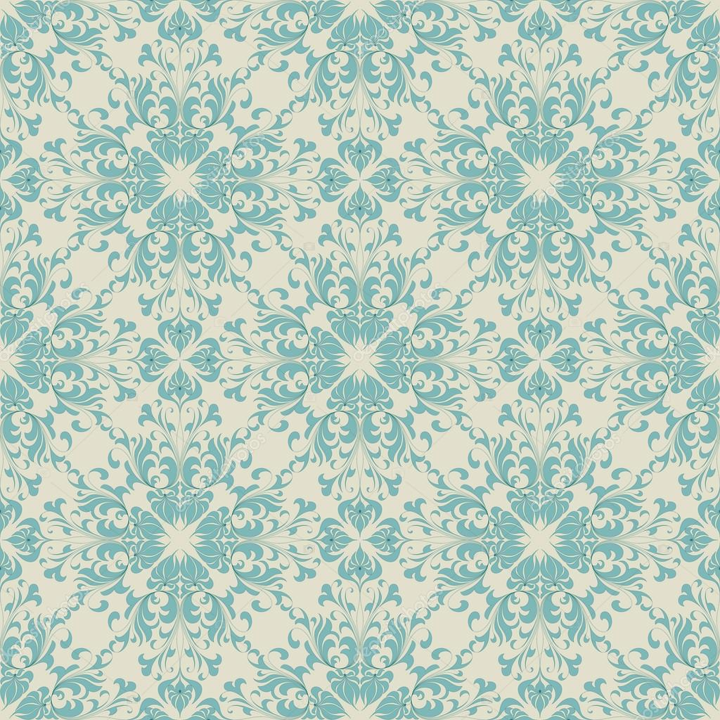 Seamless Vintage Wallpaper Pattern Orange