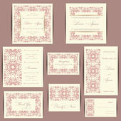 Set of wedding invitation cards — Stockfoto