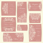 Set of wedding invitation cards — Foto de Stock